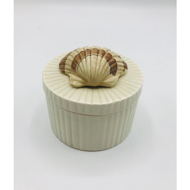 Ceramic Fitz and Floyd Seashell Lidded Box For Sale - Image 7 of 7