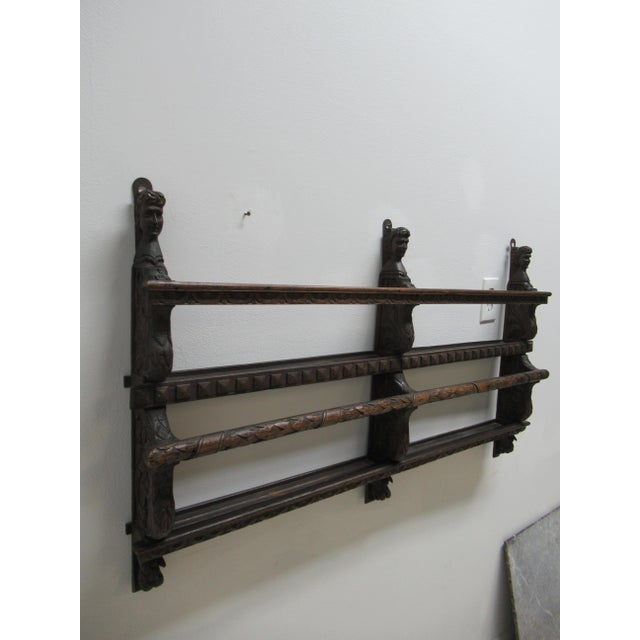 Figurative Italian Figural Carved Hand Plate Rack For Sale - Image 3 of 12
