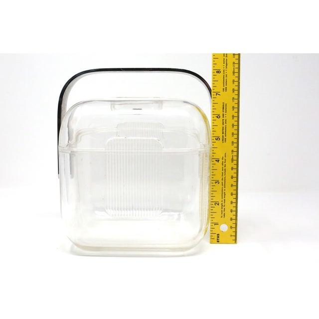 Vintage Acrylic Guzzini Ice Bucket For Sale - Image 9 of 11