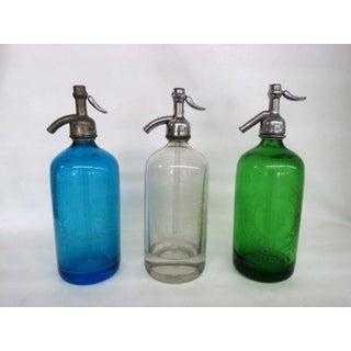 Seltzer Bottles Set of 3 Monarch Beverages Preisman Shlomkowitz New York Preview