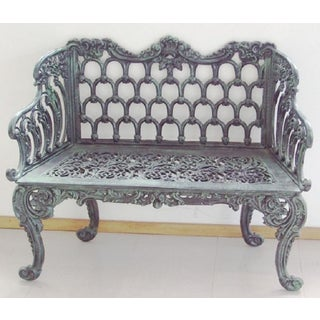 New Green Cast Aluminum Two Seats Garden or Park Bench Preview