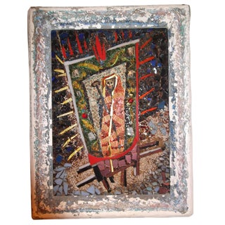 1950s Louisa Jenkins Mosaic Saint Artwork For Sale