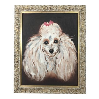 Original Oil on Canvas Dog Portrait For Sale