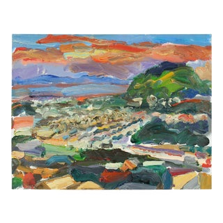 San Francisco Sunset, Landscape in Oil, 2010