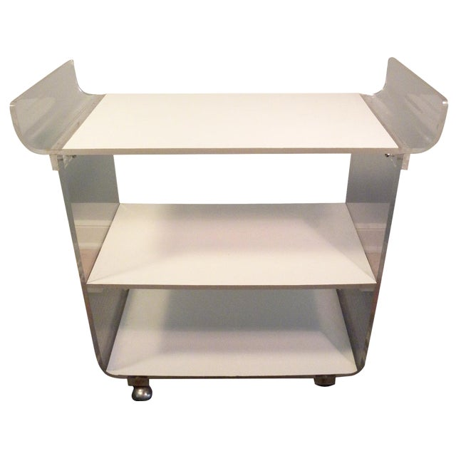 Mid-Century Acrylic Bar Cart - Image 1 of 7