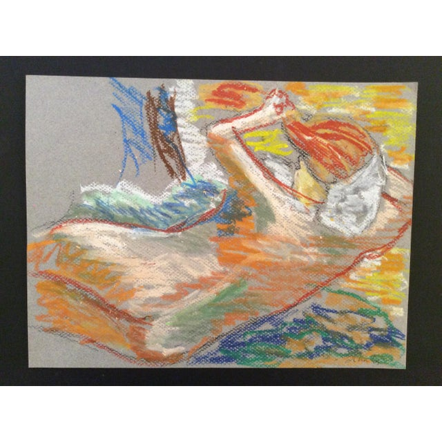 Contemporary 2009 Impressionist Contemporary Female Nude Pastel Drawing For Sale - Image 3 of 3