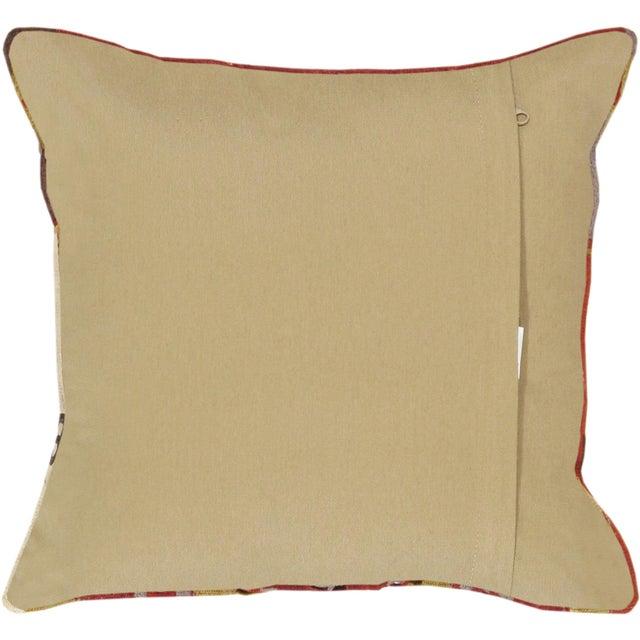 Red Pasargad Decorative Vintage Kilim Pillow - Image 2 of 2