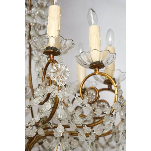 Unusual Ten-Light Gilded Iron Italian Chandelier, Early 20th Century For Sale In West Palm - Image 6 of 10