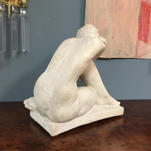 Modern Terra-Cotta Sculpture of Bashful Lady - Image 5 of 7