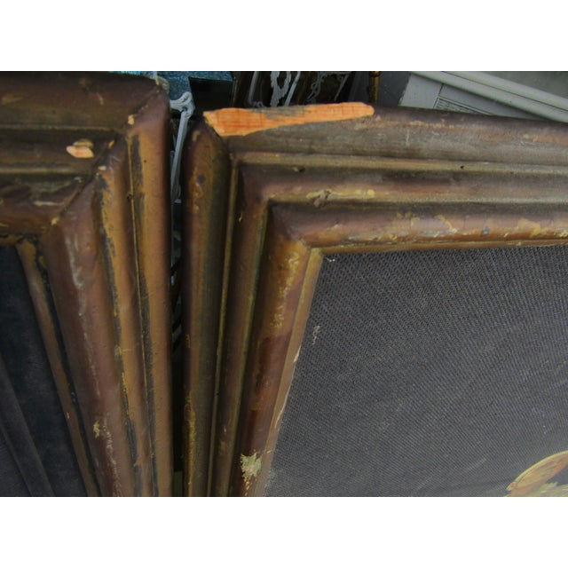 Green Herman Heyer Vintage Musician Oil Panels - A Pair For Sale - Image 8 of 9