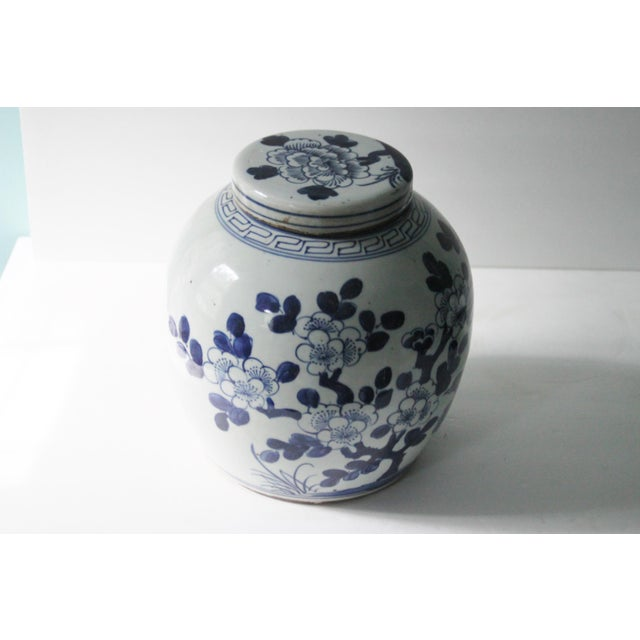 Blue & White Porcelain Chinoiserie Bird Jar - Image 5 of 5