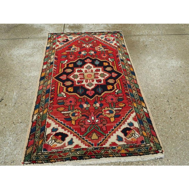 """Vintage Persian Hamadan Rug – Size: 2' 5"""" X 4' 1"""" For Sale - Image 4 of 9"""