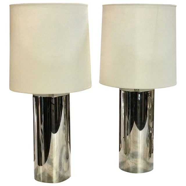 1970s Italian Reggiani Steel Cylinder Lights - a Pair For Sale In Los Angeles - Image 6 of 6