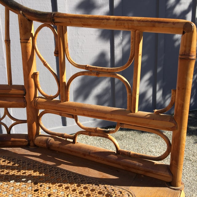 1970s Vintage Brighton Pavilion Bamboo, Ratan and Cane Chairs- Set of 4 For Sale - Image 10 of 13