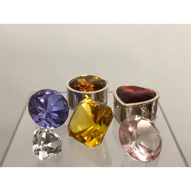 Fabulous collection of vintage gemstone crystals. Different makers complete this collection. There are 4 loose stones and...