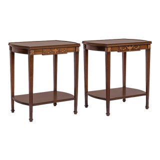 George III Mahogany Side Tables, - a Pair For Sale