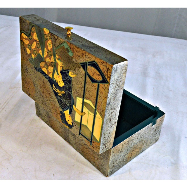Late 20th Century Asian Motive Trinket Box For Sale - Image 5 of 6