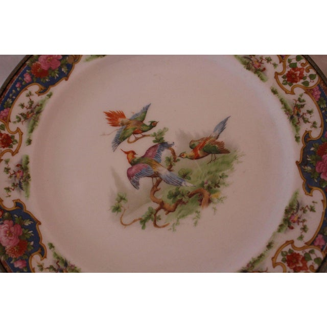 Traditional Victorian Hot Water Reservoir Transferware Plate For Sale - Image 3 of 7