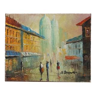 Paris Scene at Dusk Oil Painting