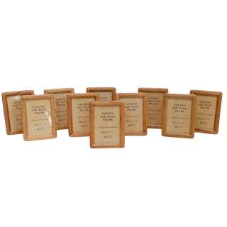 Vintage Oak Picture Frames, Set of 10 For Sale