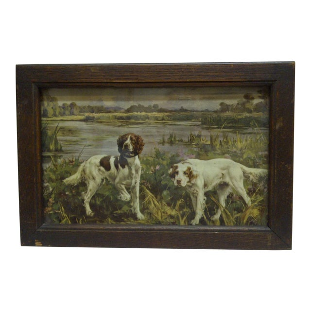 Circa 1900 Bird Dogs Framed Print For Sale