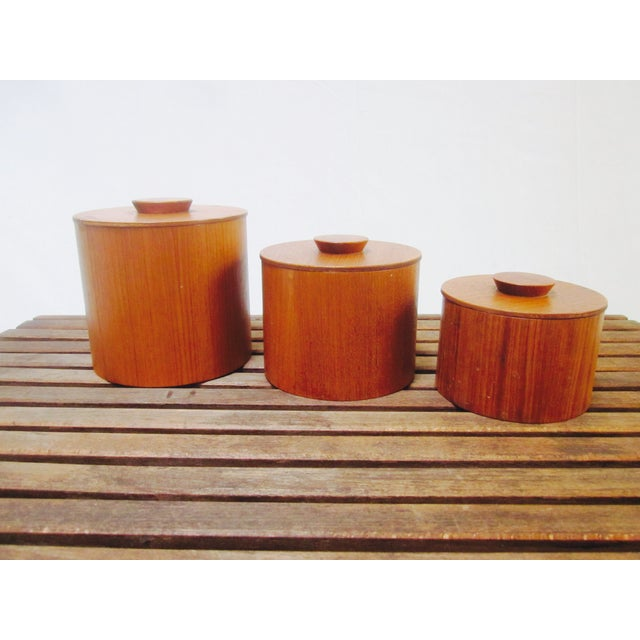 Danish Modern Teak Canister Set - Image 10 of 11