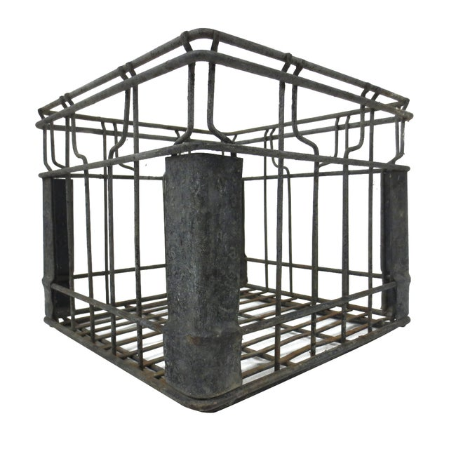 Industrial Square Metal Crate - Image 2 of 5