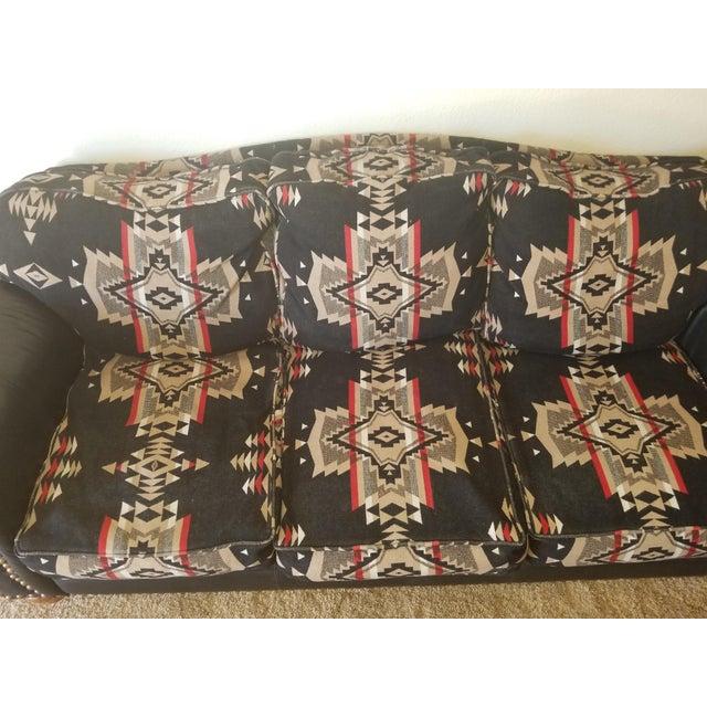 Pendleton Wool Santa Fe Style Southwestern Sofa For Sale - Image 4 of 6