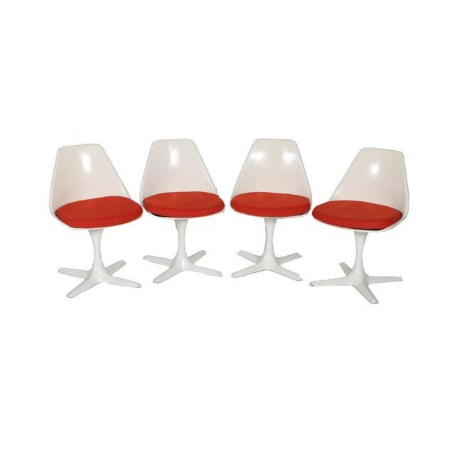 1960s Vintage Burke Swivel Chairs - Set of 4 For Sale - Image 5 of 5