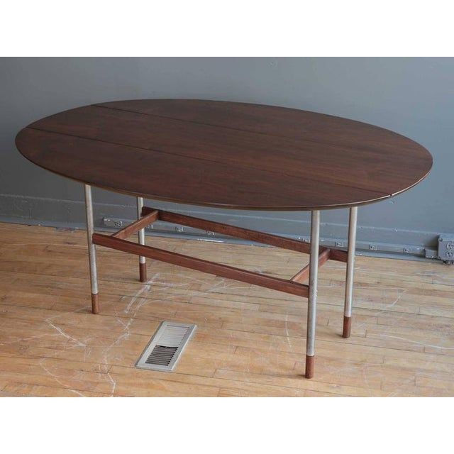 Danish Drop-Leaf Dining Table Attributed to Arne Vodder For Sale In Boston - Image 6 of 6