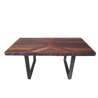 Heurich Rustic Rectangular Wooden Dining Table