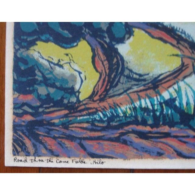 Mid-Century Modern 1940s Byron Randall Hawaii Silkscreen Print For Sale - Image 3 of 5