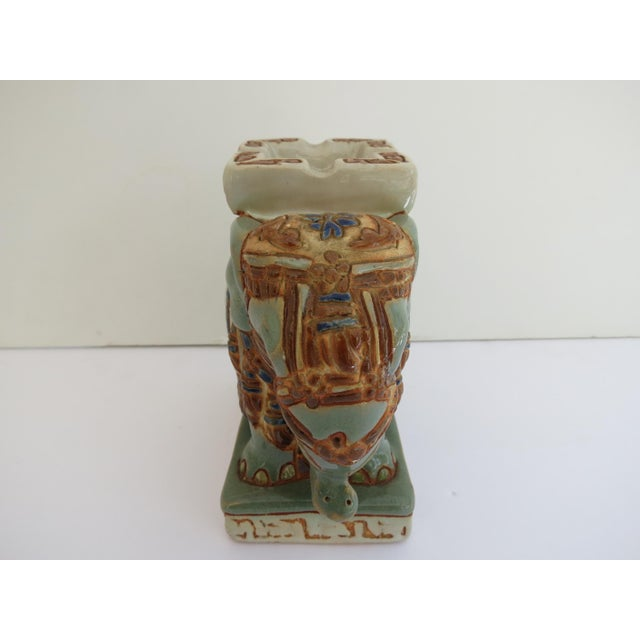 Mid-Century Modern Mid Century Ceramic Elephant Ashtray For Sale - Image 3 of 5