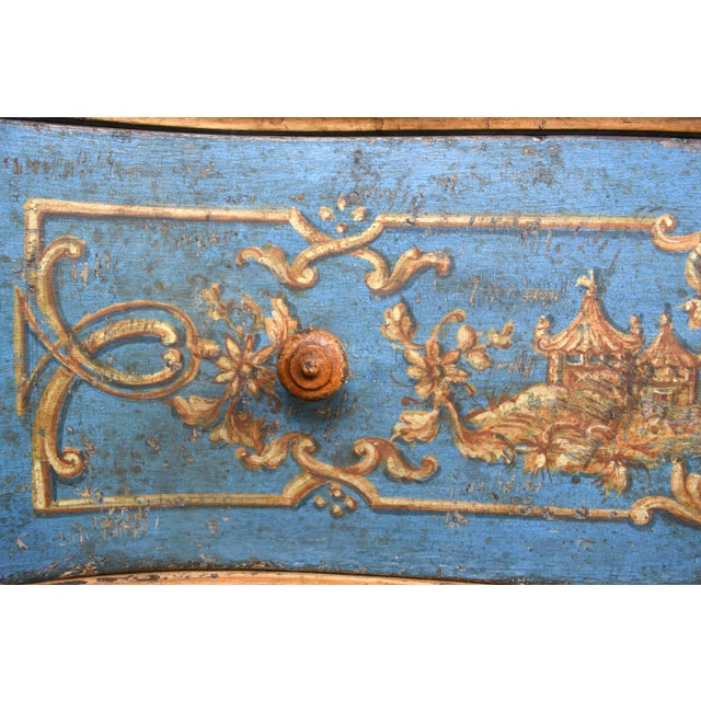 18th Century Italian Painted Chinoiserie Commode For Sale - Image 4 of 12