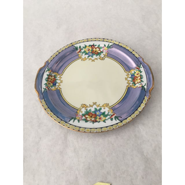 This gorgeous Antique Lustreware Noritake Plate is made in Japan. Beautiful blue periwinkle with hand painted flowers and...