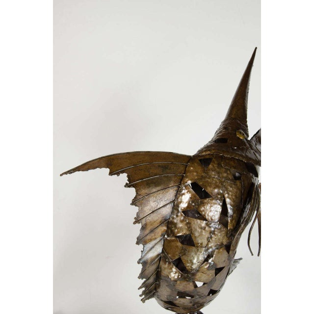 Early 20th Century Mid-Century Modernist Brutalist Marlin Sculpture For Sale - Image 5 of 8