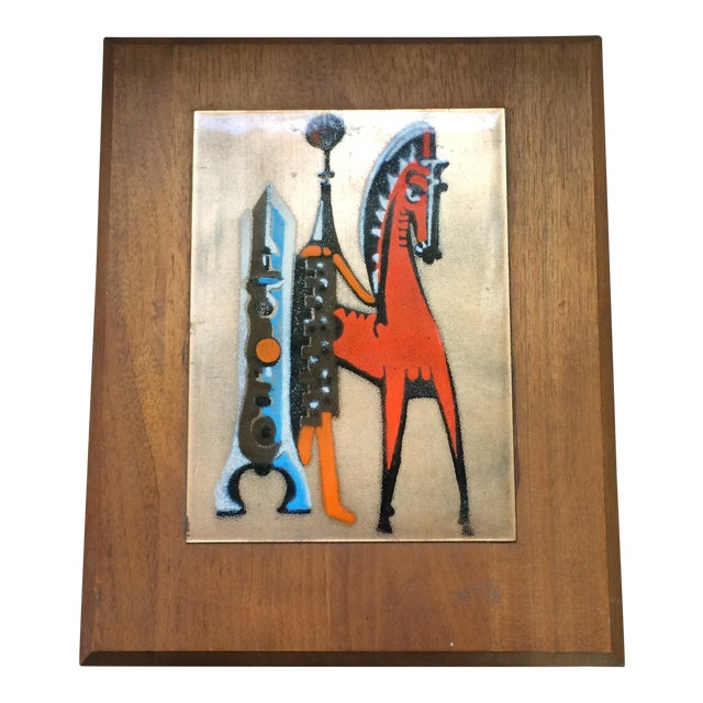 Mid-Century Copper Art with Horse For Sale