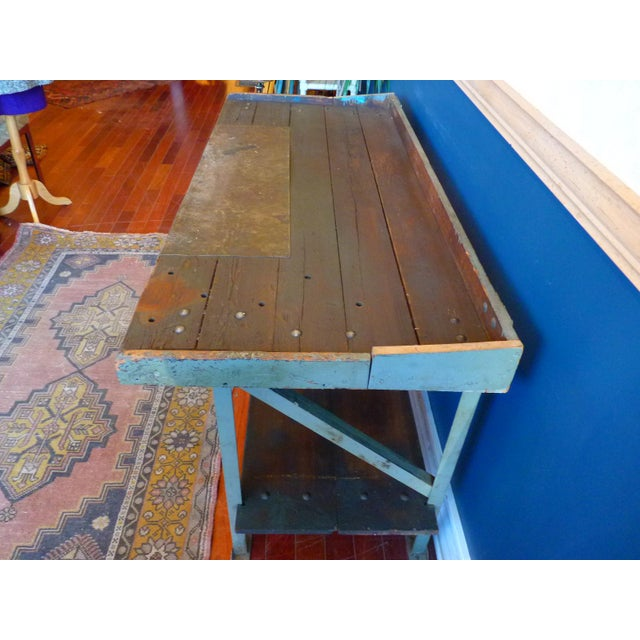 Industrial, Old Welders Workbench For Sale - Image 11 of 13