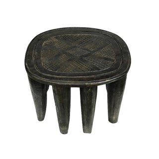 "African Lg Nupe Stool / Table Nigeria 13.5"" H by 18"" W For Sale"