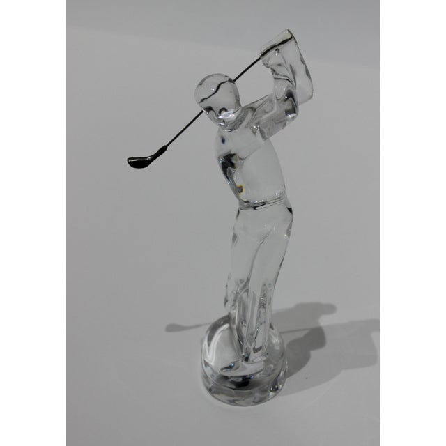 Baccarat Crystal Golfer Figurine from a Palm Beach estate