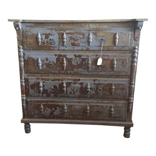 Carved Painted Chest of Drawers