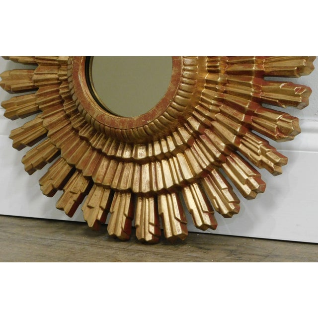 Small Gold Gilt Sunburst Mirror For Sale - Image 10 of 13