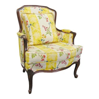 Louis XV Style Upholstered Side Chair For Sale