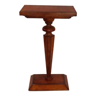 Transitional Century Furniture Mahogany Pedestal For Sale