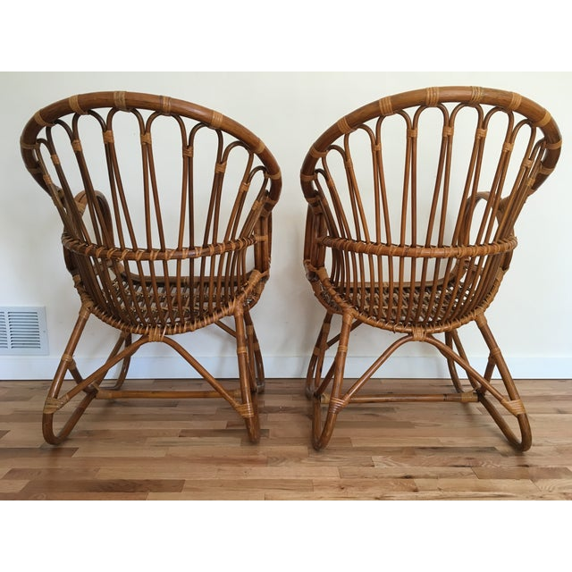 1960s Franco Albini Style Scoop Chairs - Pair For Sale - Image 5 of 6