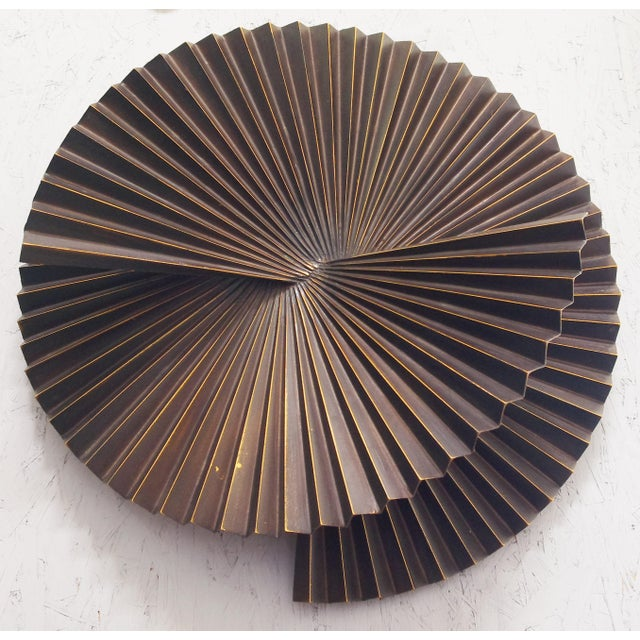 Asian Single Large Fan Sconce Sculpture by Fabio Ltd For Sale - Image 3 of 5