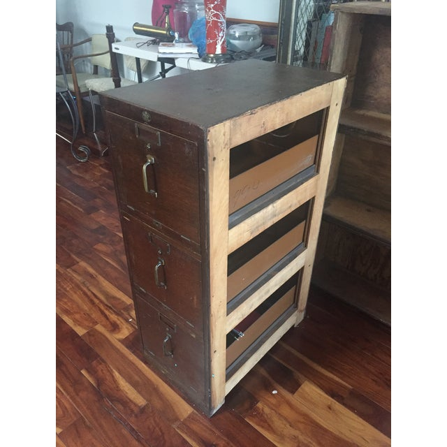 Antique Pacific Desk Co. Wooden File Cabinet - Image 2 of 6