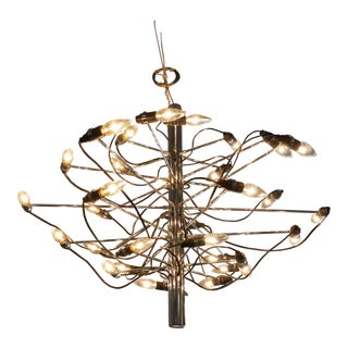 Dramatic Chandelier by Gino Sarfatti for Flos, Italy