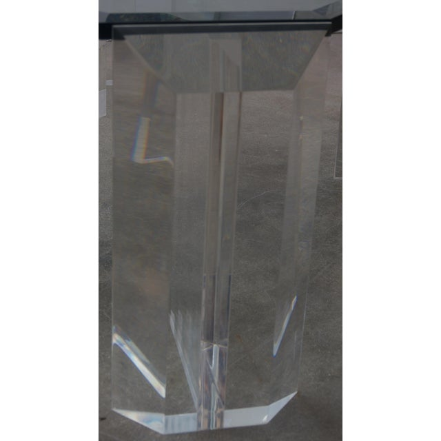 Lucite and Glass Square Cocktail Table by Charles Hollis Jones For Sale In West Palm - Image 6 of 7