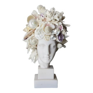 Contemporary Miniature Shell Encrusted Hygeia Head